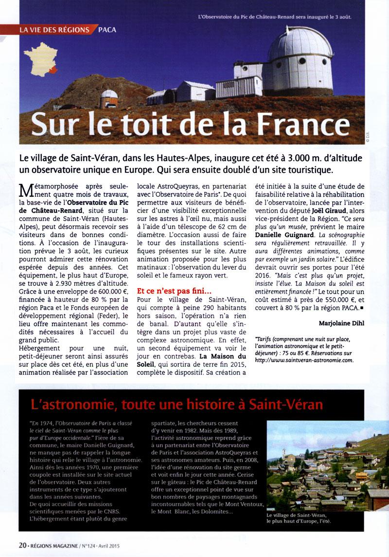Rénové, l'Observatoire de Saint-Véran ouvre ses portes au public