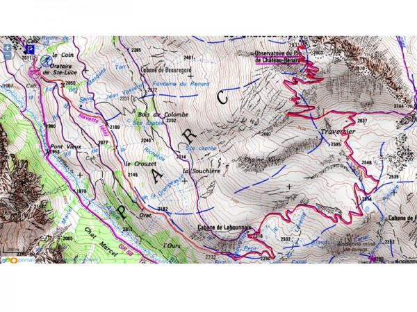 Trace GPS piste d'été