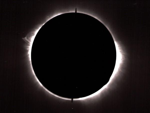 La couronne solaire enregistrée avec le coronographe de l'Observatoire de Saint-Véran